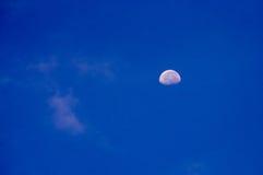Luna e cielo Immagini Stock Libere da Diritti