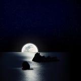 Luna e stella Immagini Stock