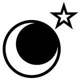 Luna e stella Fotografia Stock