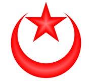 Luna e stella della Turchia illustrazione vettoriale