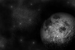 Luna e stelle Immagini Stock