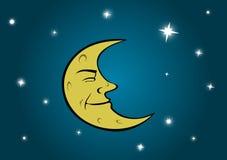 Luna e stelle Illustrazione di Stock