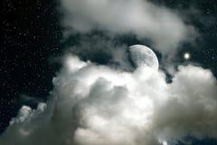 Luna e Venus Fotografia Stock Libera da Diritti
