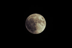 Luna eccellente rara tremenda sopra Mar Nero Più grande luna eccellente dal 1948 14 novembre 2016 Immagini Stock