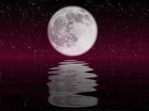Luna ed acqua Immagini Stock