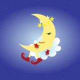 Luna el dormir Foto de archivo libre de regalías