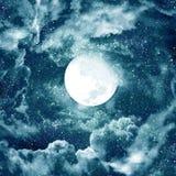 Luna en cielo azul Imagen de archivo libre de regalías