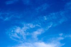 Luna en el cielo Fotografía de archivo libre de regalías