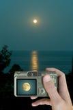 Luna en el LCD Foto de archivo