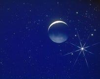 Luna en espacio Fotos de archivo