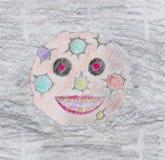 Luna enojada asustadiza libre illustration