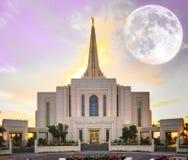 Luna estupenda en el templo Imagen de archivo