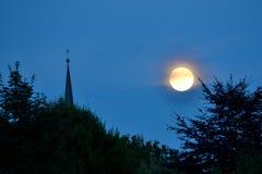 Luna estupenda magnífica - Luna Llena Imagenes de archivo