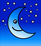 Luna feliz ilustración del vector