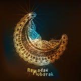 Luna floral para la celebración del Ramadán Imagen de archivo