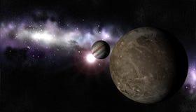 Luna Ganymed Fotos de archivo libres de regalías