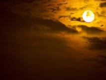 Luna gialla Fotografie Stock Libere da Diritti