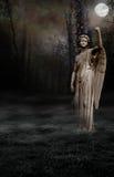 Luna gotica di angelo Immagine Stock