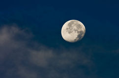 Luna illuminata Fotografia Stock