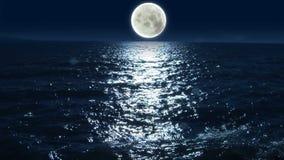 Luna a la reflexión HD 1080 del lago ilustración del vector