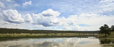 A Luna Lake Panorama, White Mountains, Arizona Royalty Free Stock Photography