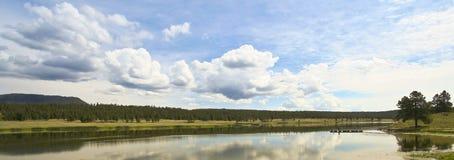 Luna Lake Panorama, Witte Bergen, Arizona Royalty-vrije Stock Afbeeldingen