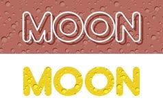 Luna Letras de la textura amarilla lunar Ilustración del vector Foto de archivo