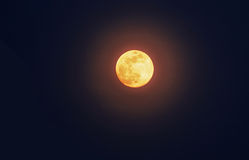 """Luna llena del  del """"Bloody†foto de archivo"""