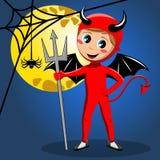 Luna Llena del traje de Halloween del diablo del niño libre illustration