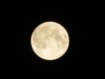 Luna Llena en fondo negro Foto de archivo libre de regalías