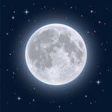 Luna Llena realista Imagen de archivo libre de regalías