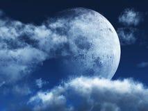 Luna luminosa Fotografia Stock