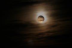 Luna luminosa Fotografia Stock Libera da Diritti