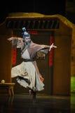 Luna marcial del ballet de los artes-Hui sobre Helan Imagen de archivo