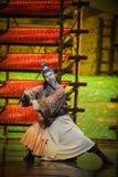 Luna marcial del ballet de los artes-Hui sobre Helan Fotografía de archivo