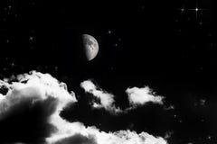 Luna mezza Immagine Stock Libera da Diritti