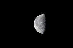 Luna mezza fotografie stock