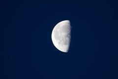 Luna mezza fotografia stock