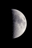 Luna mezza Fotografia Stock Libera da Diritti