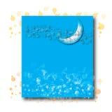 Luna mezza sull'azzurro Immagini Stock