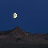 Luna nel cielo Fotografia Stock