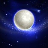 Luna nel cielo notturno illustrazione vettoriale
