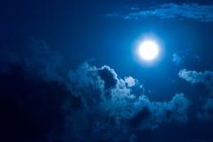 Luna nella nerezza Fotografia Stock