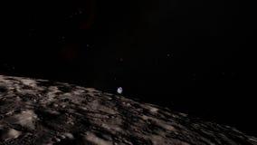 Luna nello spazio cosmico, superficie Elementi di questa immagine ammobiliati dalla NASA royalty illustrazione gratis