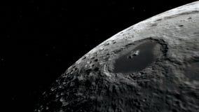 Luna nello spazio cosmico, superficie Elementi di questa immagine ammobiliati dalla NASA illustrazione di stock