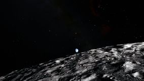 Luna nello spazio cosmico, superficie Elementi di questa immagine ammobiliati dalla NASA illustrazione vettoriale