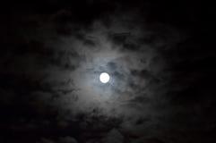 Luna nublada Fotografía de archivo libre de regalías