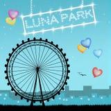 Luna Park illustration stock