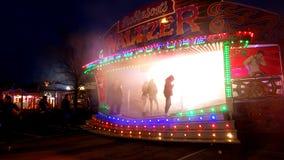 Luna park alla notte Immagini Stock Libere da Diritti