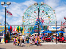The Luna Park amusement park at Coney Island in New York City Stock Photos